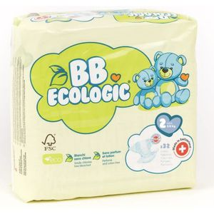 COUCHE BEBE ECOLOGIC - Couches  taille 2 - 32 couches