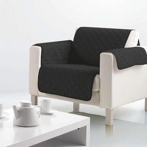 HOUSSE DE FAUTEUIL Housse de fauteuil microfibre 160x179 cm noir 165