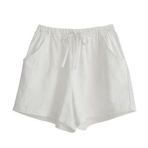a4ccffc264 SHORT Minetom Femme Shorts Taille Élastique Été en Lin C