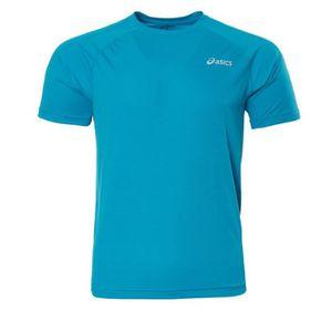 T-SHIRT Maillot de running bleu homme Asics Top