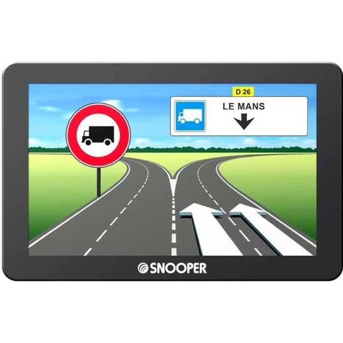 """SNOOPER GPS Poids Lourds Truckmate 6600 Ecran 7"""" Mise à Jour à Vie"""