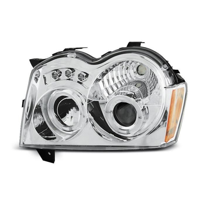PHARES - OPTIQUES Paire de feux phares Jeep Grand Cherokee 05-08 ang