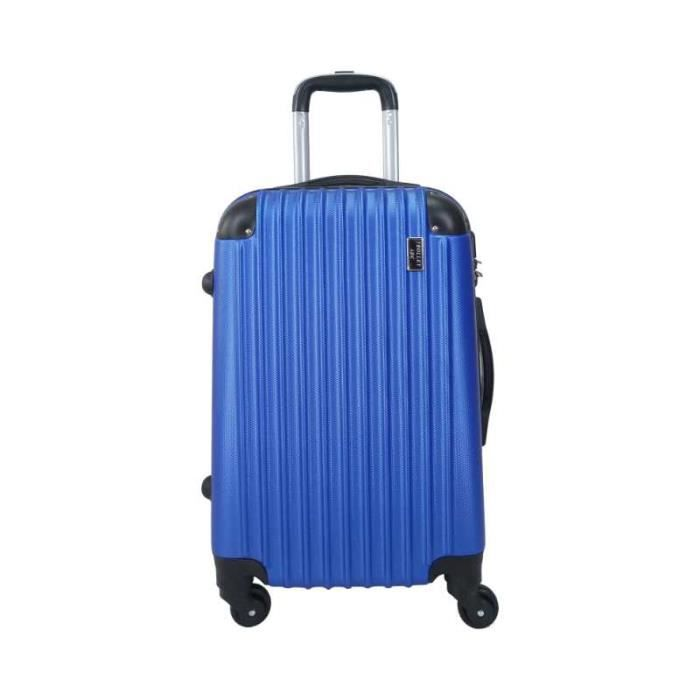 "VALISE - BAGAGE Valise Trolley Moyenne 4 roues 65cm ABS Rigide ""Ra"