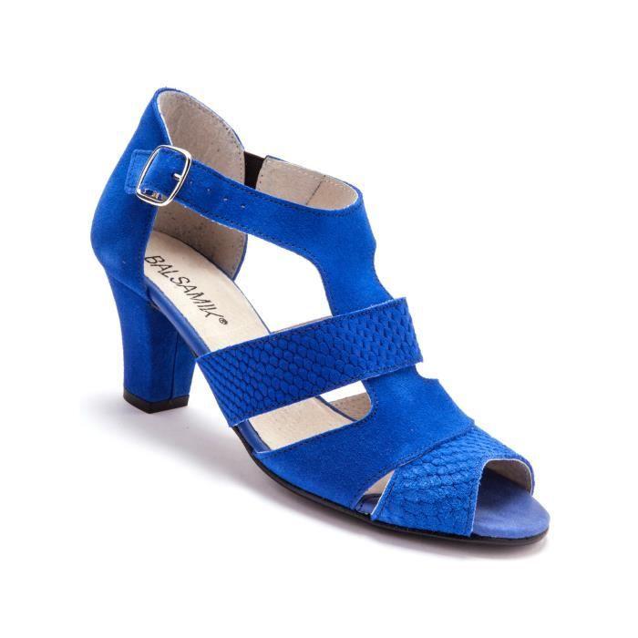 Sandales en croûte de cuir