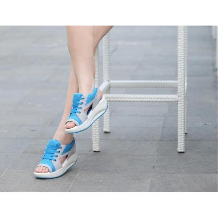 Des sandales Femmes solide dentelle en haut déc... u6UoHEwv