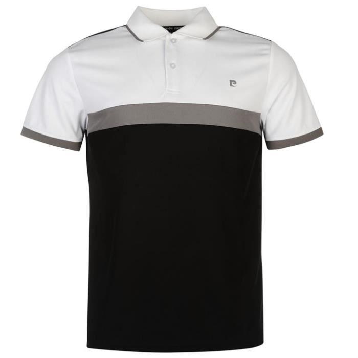 Polo Pierre CARDIN noir-blanc-gris modèle