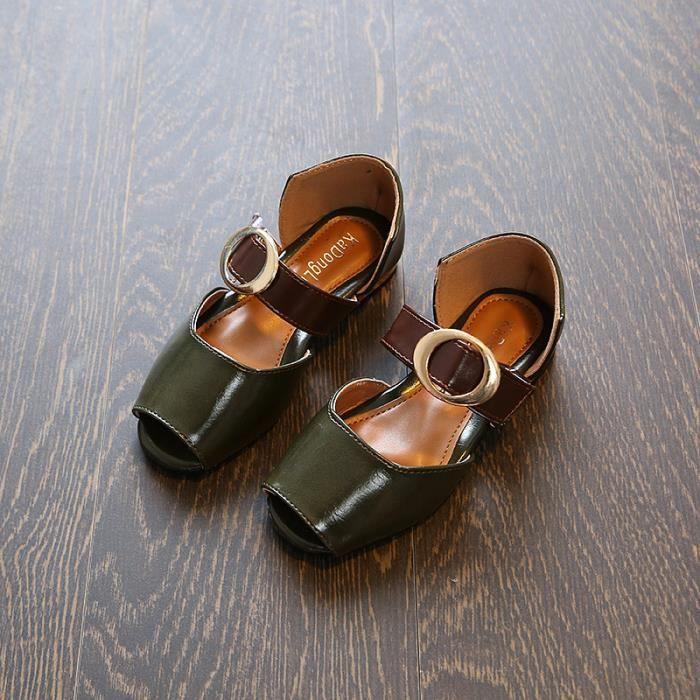 Sandales Cuir Chaussures Enfant Fille