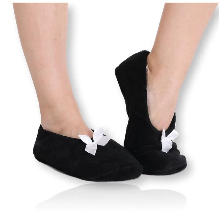 Fuzzy Corail mou Pantoufles en polaire - Slip House chaussons pour adultes, femmes, filles BTP08 Taille-S