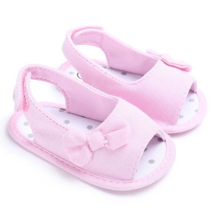 BOTTE Nouveau-né Fille Toddler Bébé Doux Sole Bowknot Chaussures Crib Prewalker Chaussures@RoseHM