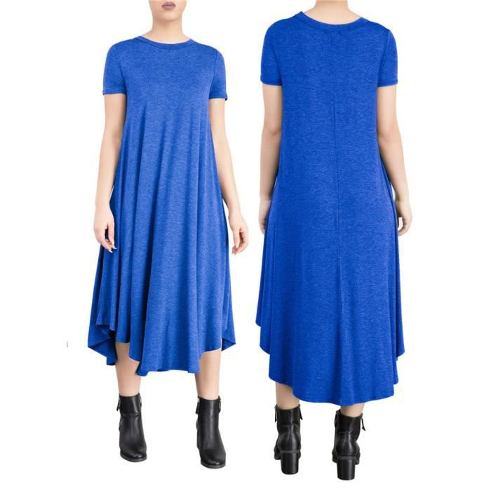 Femmes Robes Mode Loisirs Nouvelle Mode En vrac Robe Confortable Respirant Coton vêtement Grande Taille S-XL