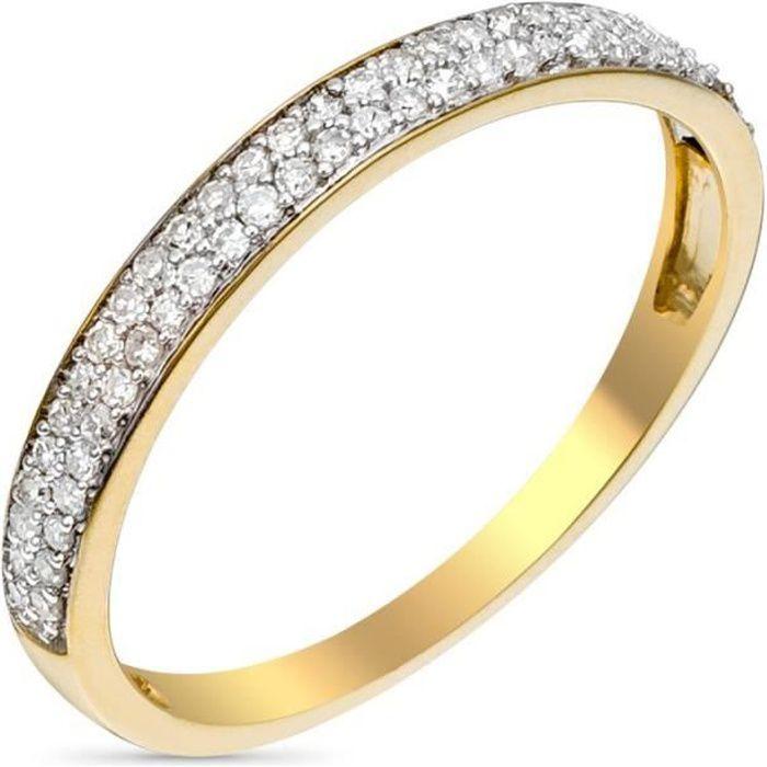96b585d793a65 Bague Or Jaune et Diamants 0,20 carats