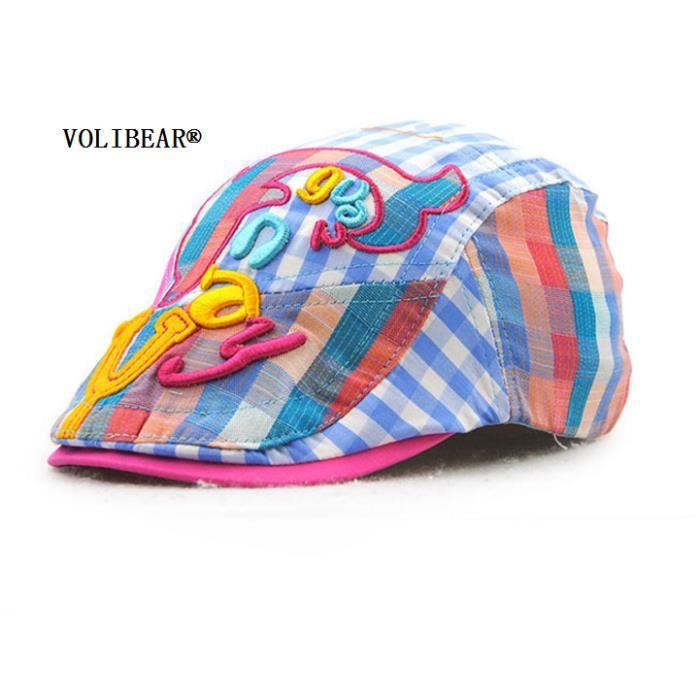VOLIBEAR®Chapeau de Baseball Casquette Bébé Enfant Garçon Fille Bonnet  Coton Hip-Hop Imprimé Chapeau de ombre 1pcs pour enfant a92ce362afa
