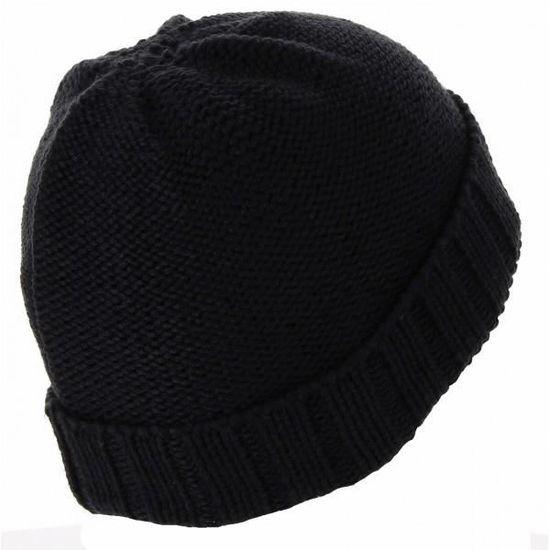 755eaf341e6d4 Bonnet Nike Jordan Jumpman Cable Knit - 576583-010 Noir - Achat   Vente  bonnet - cagoule 0887227303219 - Cdiscount
