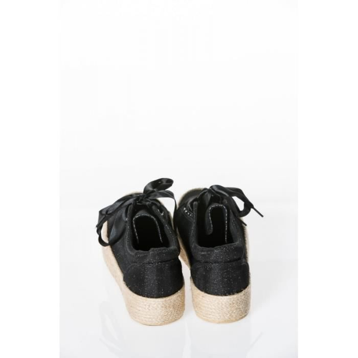 Baskets en toile compensées NOIR1028F-YH286-3_20/17_NOIR