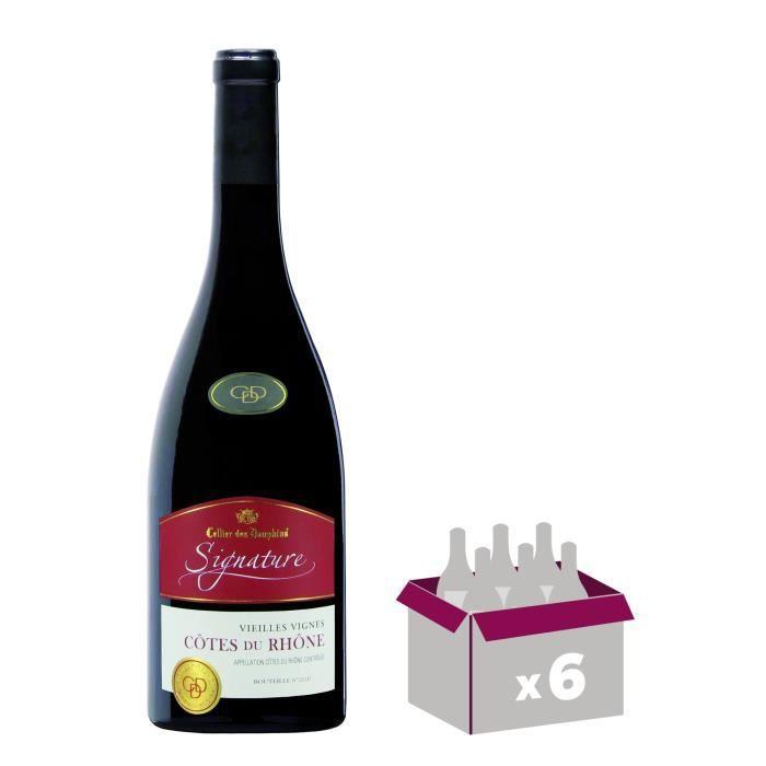 Cellier Des Dauphins Signature - Vieilles Vignes - Côtes du Rhône - Vin Rouge - 75 cl - AOCVIN ROUGE