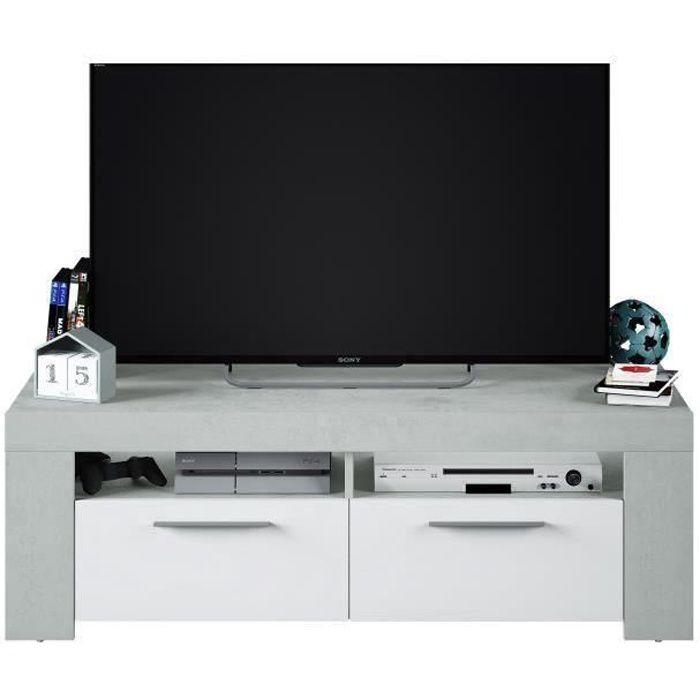 L 120 X H 50 X P 35 Cm Pegane Meuble Tv En Panneaux De