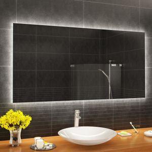 MIROIR SALLE DE BAIN ARTFORMA L58 120x70 cm Illumination LED miroir sur