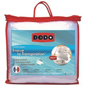 """COUETTE DODO Couette chaude 400 gr/m² TOP AIR """"Evacue la T"""