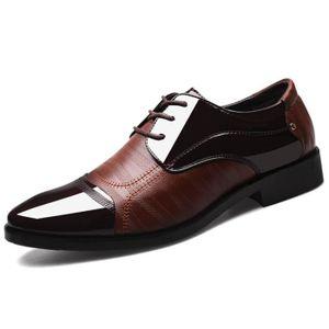 cec57f903e8e20 DERBY Chaussures derby pour hommes en cuir verni décontr