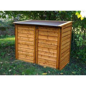 Coffre de rangement extérieur en bois et polypropylène, 150 x 98 x 130 cm - Achat / Vente boite ...