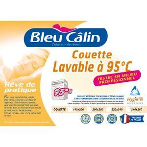 COUETTE BLEU CALIN Couette lavable à 95°C  300g/m² 220x240