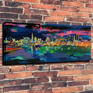 TABLEAU - TOILE Home Décoration Oils Paintings Seaside Night HD Im