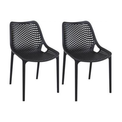 Lot De 2 Chaises Design Noires MENAZ