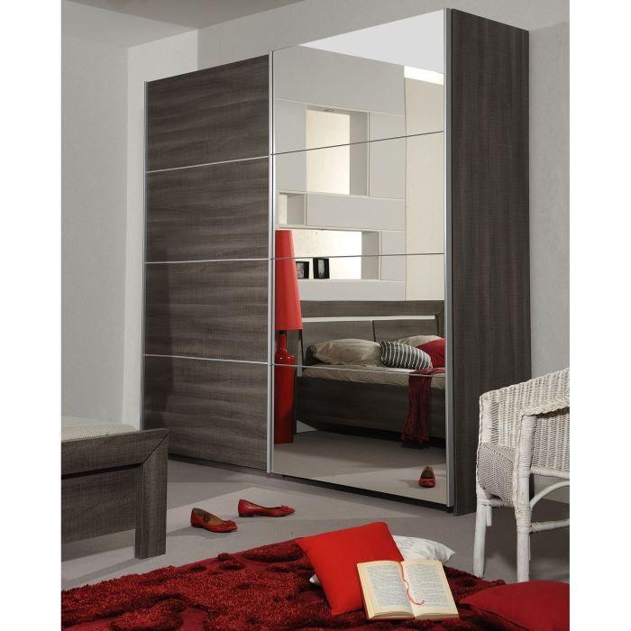 AVIGNON Armoire 2 portes coulissantes - Achat / Vente armoire de ...