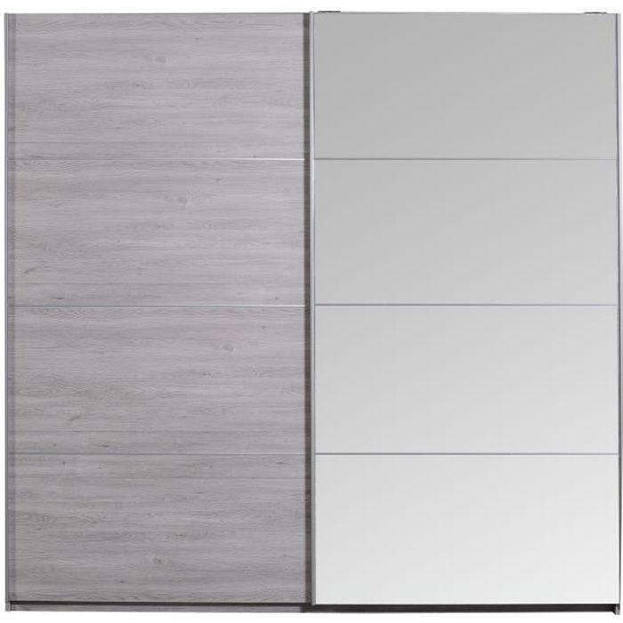 NEVA Armoire de chambre style contemporain décor gris clair - L 230 ...
