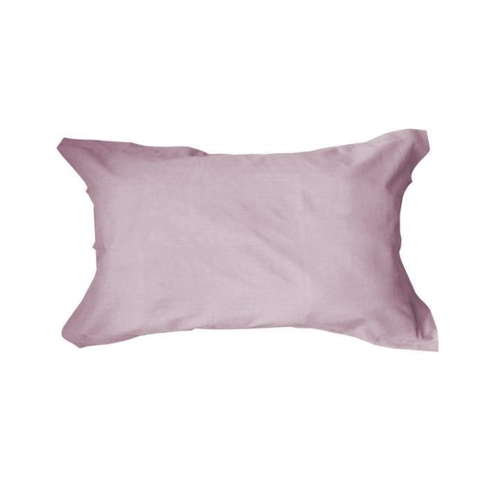 TODAY Taie d'oreiller américaine 50x70cm Poudre de lila