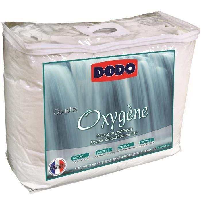 DODO Couette tempérée 300g/m² OXYGENE 220x240 cm blanc