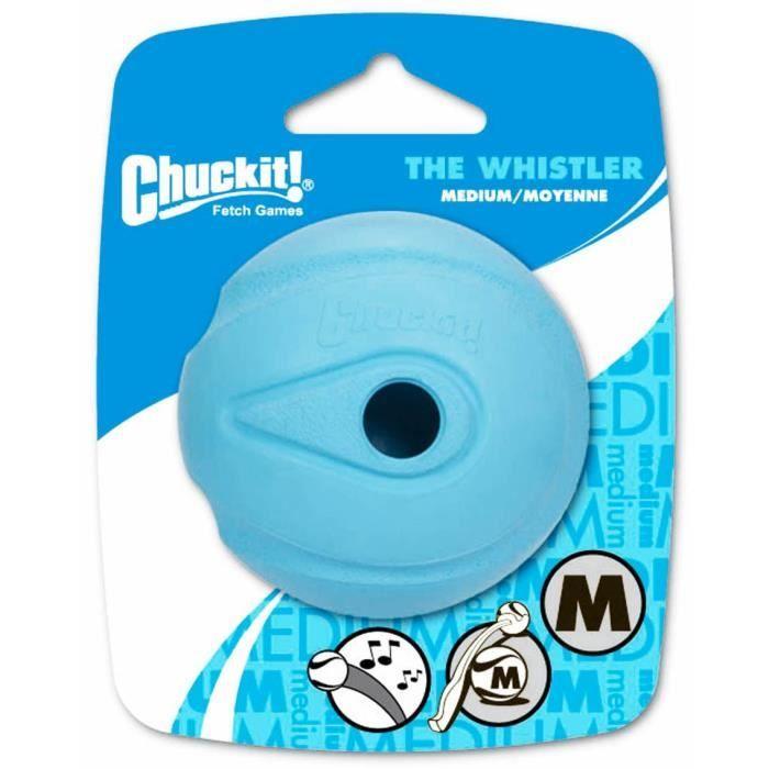 CHUCKIT! The whistler 2-PK - Balle qui siffle M en caoutchouc Ø 6,5cm - Pour chien