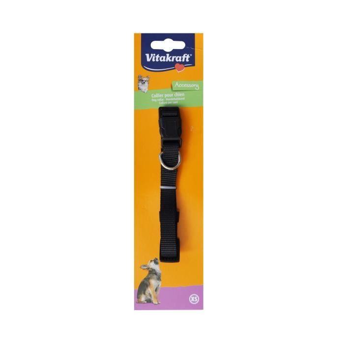 VITAKRAFT Collier premium doublé XS - Noir - Pour chien