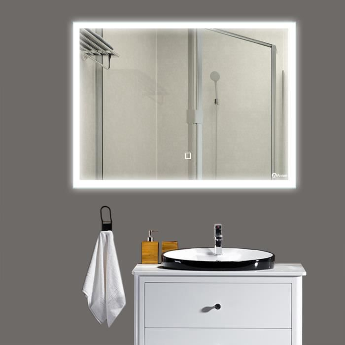 Miroir salle de bain 80 cm achat vente miroir salle de bain 80 cm pas cher cdiscount - Miroir salle de bain cdiscount ...