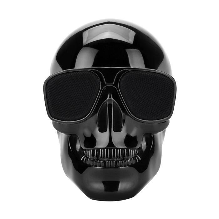 Placage Sans Fil Bluetooth Skull Protable Haut-parleur Stéréo Avec Son Hd Basse Bk Yx540