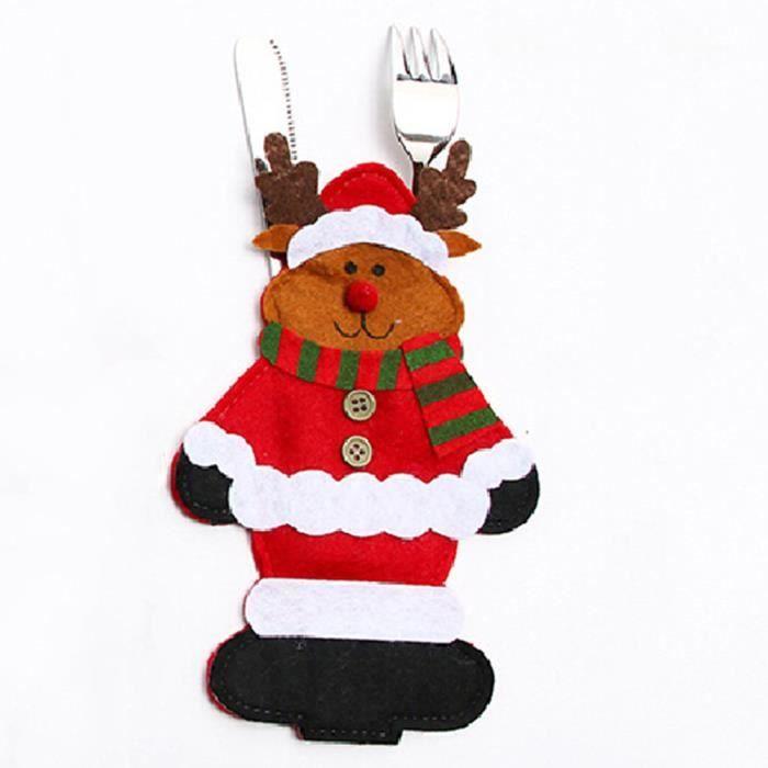 D corations de no l dessin anim ensemble de couteau de p re no l elk achat vente coffret - Decoration de noel dessin ...