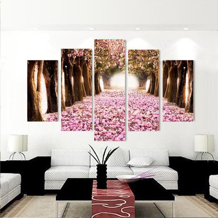 Objet décoration murale forêt de 5 pièces murs modernes art haute définiti