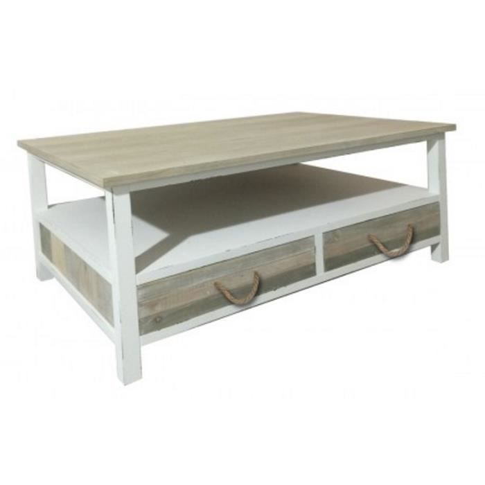 Marin Table Bois Vintage Style Achat Vente Basse dQhtCxBsr