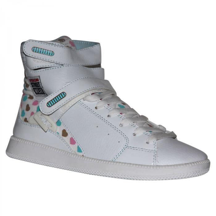samples shoes VISION STREET WEAR ULTRA HI TOP WHITE WOMEN