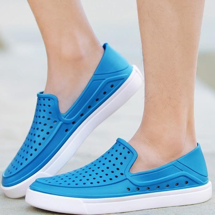 British Fashion Bleu Casuas Chaussures Sandales imperméable pour homme K0JeG