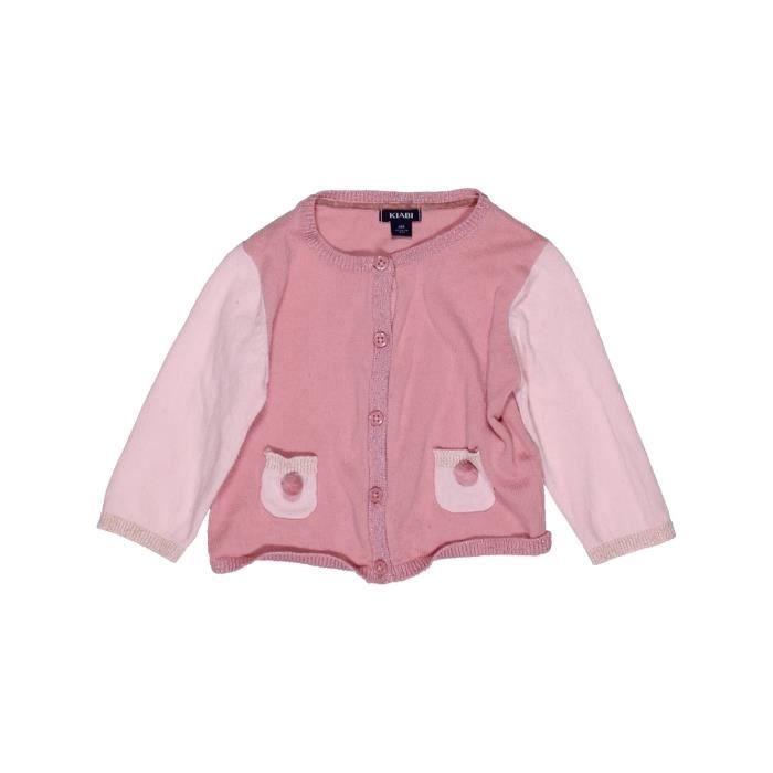 Hiver Rose Gilet Mois Kiabi Bébé 1038299 6 Vêtement Fille XCqYw6rqx7