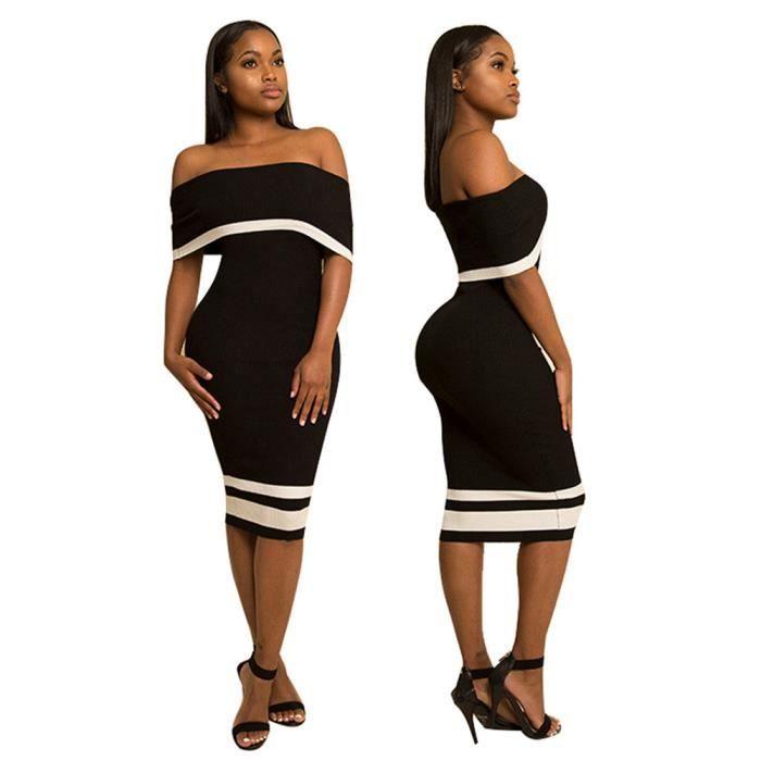 Robes Femmes Classique Respirant Collier à un mot Sexy Jupe Coffre enroulé vetement Nouvelle 2017 arrivee Loisirs Mode Fête S-XL