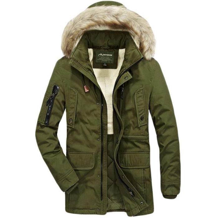 En Cargo Fausse Hiver Poches Coton Capuche Militaire Blouson Vêtements Mulit Manteau Fourrure Homme Veste TTxwrqUfFt