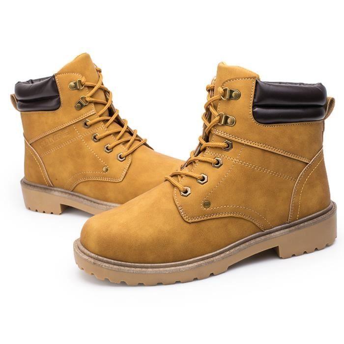 Hiver Jaune Low Hommes Chaussures Plate love1424 Bottes Beguinstore® Martin Automne Occasionnels Garniture Cheville wfFP6Y6x