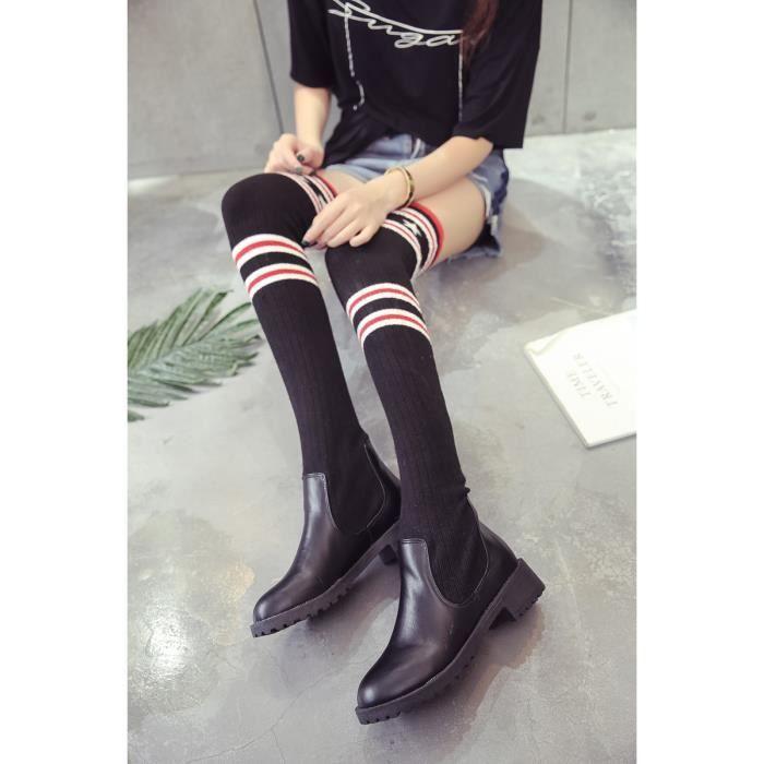 Chaussures femme Bottes mode Bottes avec coton Bottes hiver Chaussures chaudement Chaussures confortablesBottes originaux