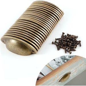 POIGNÉE - BOUTON MEUBLE 24x poignée de tiroir 82mm coquille laiton antique