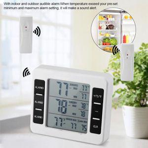 THERMOMÈTRE DE CUISINE Thermomètre de Réfrigérateur Sans Fil Numérique Co