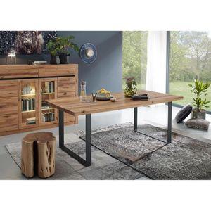 TABLE À MANGER SEULE Table à manger 200x100cm - Métal et Bois massif de