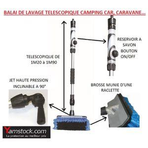 BROSSE - RACLETTE Balai brosse de lavage téléscopique voiture , camp