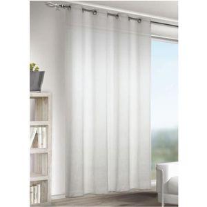 rideaux lin blanc achat vente pas cher. Black Bedroom Furniture Sets. Home Design Ideas